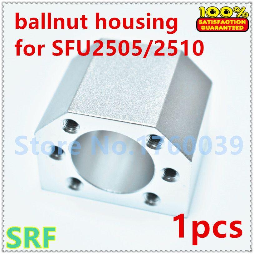 1 stücke SFU2505 SFU2510 ballscrew nut gehäuse für SFU2505 kugelmutter halterung halter Aluminium DSG25H
