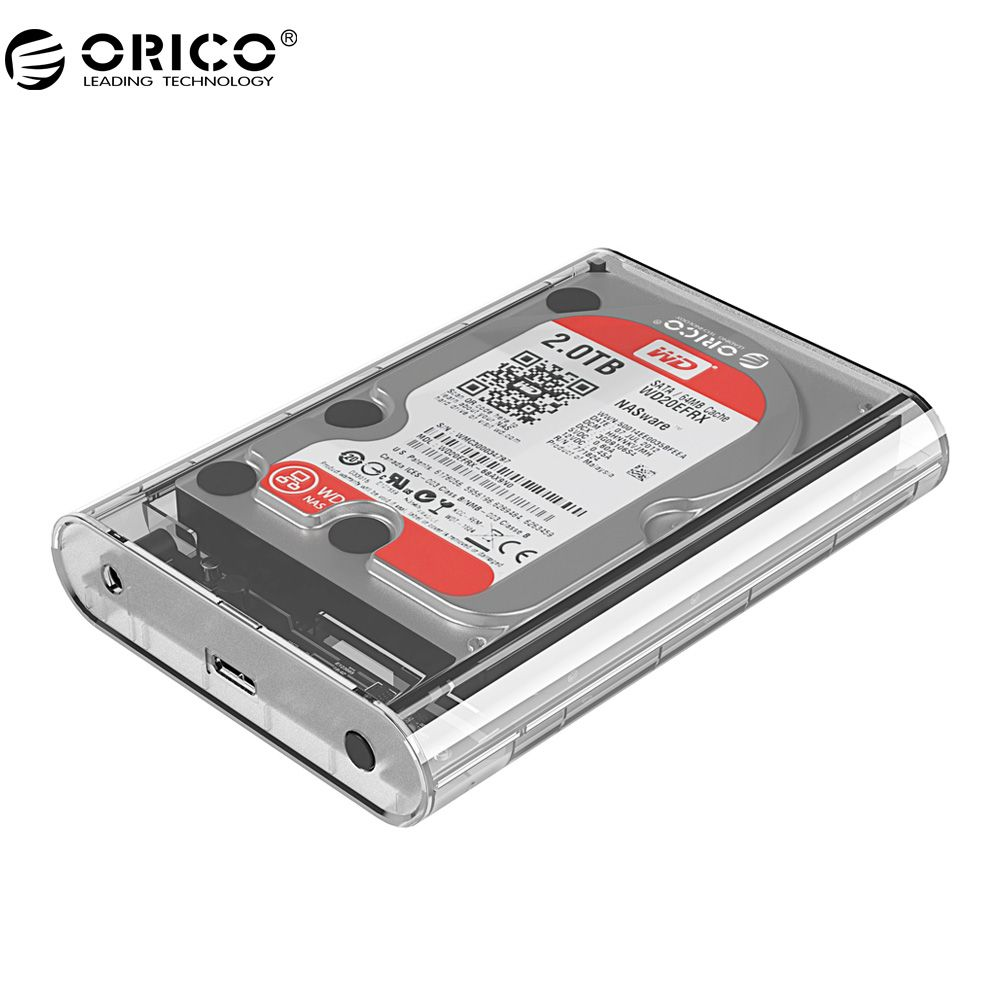 ORICO 3139U3 3.5 inch Transparent HDD Enclosure Case USB 3.0 5Gbps SATA3.0 Support UASP 8TB <font><b>Drives</b></font> for Notebook Desktop PC