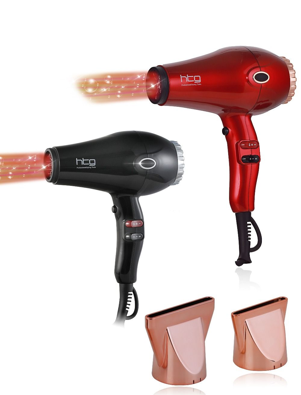 RUSSIA Ship HTG 2300W powerful professional Hair Dryer Blow Dryer Lightweight Negative ion infrared Hair Dryer 110V/240V