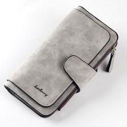 2019 Новый брендовый кожаный женский кошелек высокого качества, дизайнерские сумки с застежкой для карт, длинный женский кошелек, 6 цветов, же...