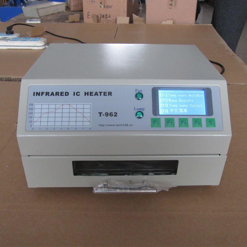 In Lager PUHUI T-962 Infrarot IC Heizung T962 Desktop Reflow Löten Ofen BGA SMD SMT Rework Station Reflow Wave Oven