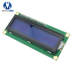 Blue Display IIC/I2C/TWI/SPI Serial Interface 1602 16 X 2 16x2 Character LCD Module