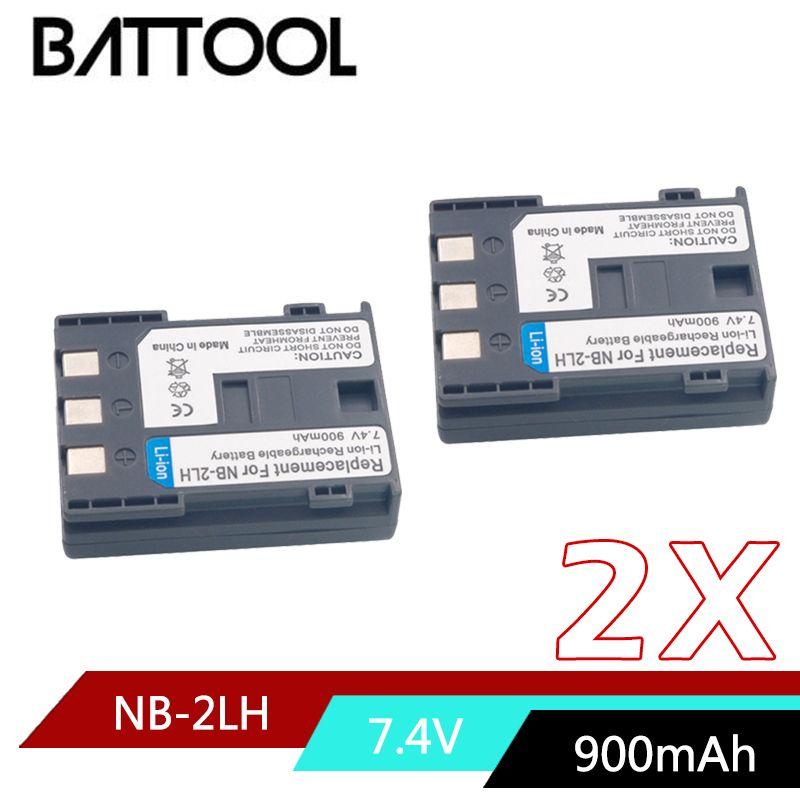 2X NB-2L NB 2L NB2L NB-2LH Li-ion Batterie Rechargeable pour CANON 350D 400D G7 G9 S30 S40 EOS PowerShot S70 Optura 400