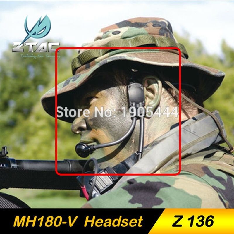 Z-TAC Z 136 New Arrivals Z-Tactical Military Headset Atlantic Signal MH180-V Tactical Sniper Earphone System Hunting Headsets