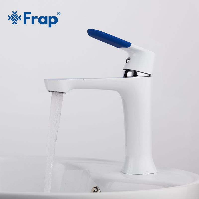 Frap Modern Style New bathroom Basin Faucet Deck Mounted bath Cold and Hot Water tap Mixer Multi Color Handle Cover F1034
