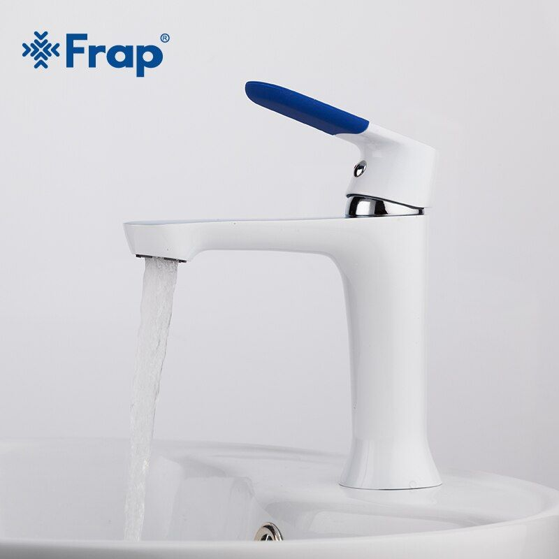 Frap Modern Style New <font><b>bathroom</b></font> Basin Faucet Deck Mounted bath Cold and Hot Water tap Mixer Multi Color Handle Cover F1034