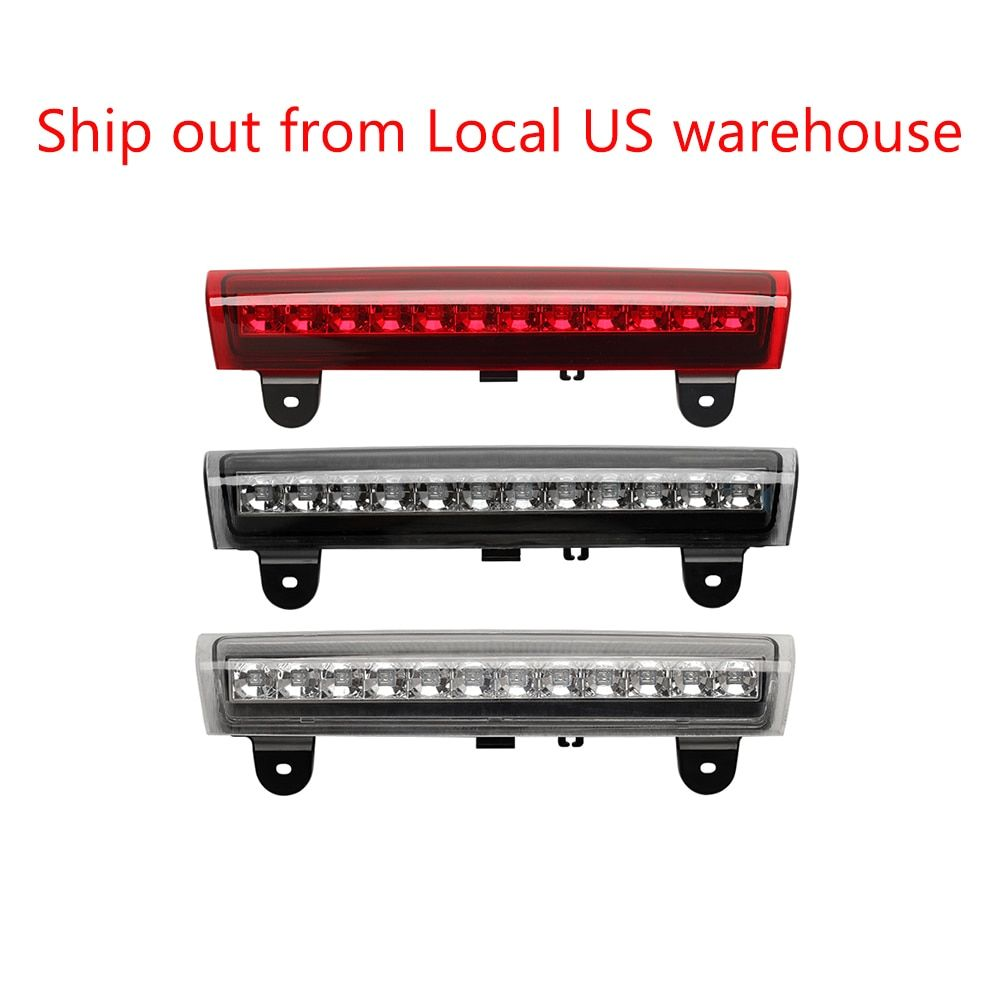 Housing REAR ROOF 12 LED 3RD Third Brake Light FOR 00-06 GMC/92-04 Chevy S10/Suburban/Tahoe/Yukon Red/Smoked/White