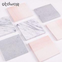 1 unid mármol creativo Color autoadhesivo Bloc piedra estilo notas pegajosas escuela Oficina fuente