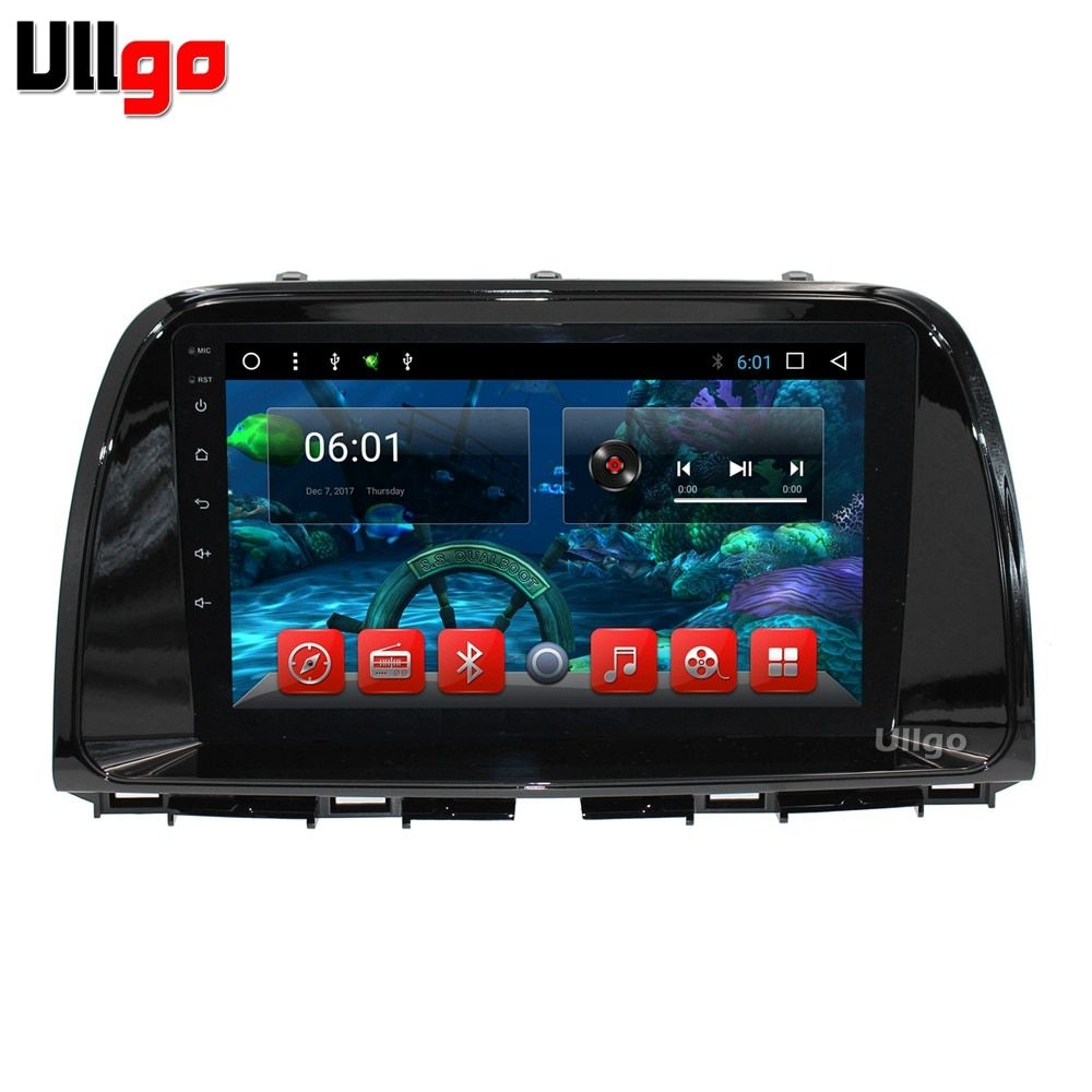 Octa Core 1024x600 Android 7.1 Car DVD GPS for Mazda CX-5 2013 2014 with BT Radio RDS Wifi 3G Mirror-Link Free 8GB USB flash