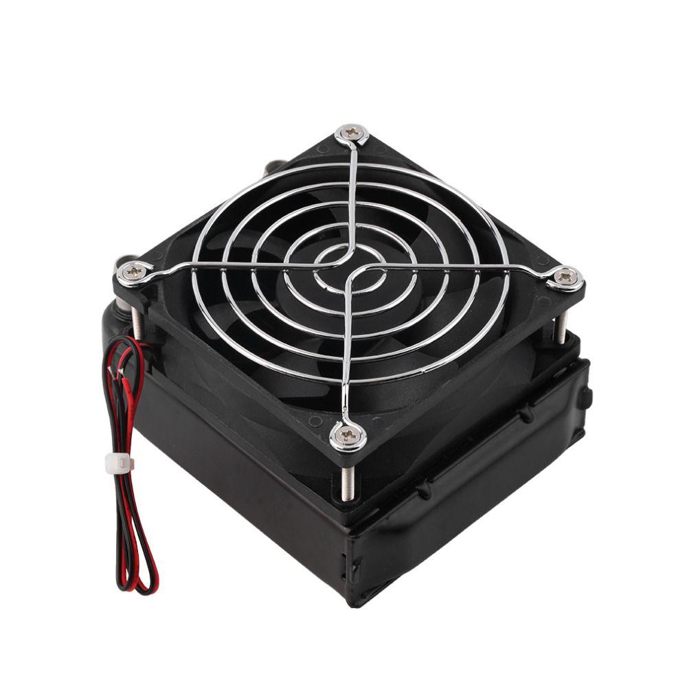 2017 neueste Aluminium 80mm Wasserkühlung gekühlt Reihe Wärmetauscher Kühler + Lüfter für CPU PC Eletronic Heißer