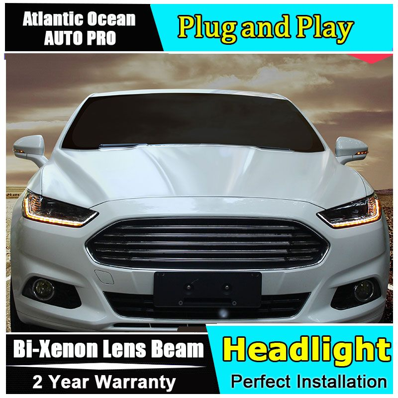 new head lamp car styling For Ford Mondeo Assembly headlights 2013-2016 For Ford Fusion Bi-xenon Double lens HID KIT led drl