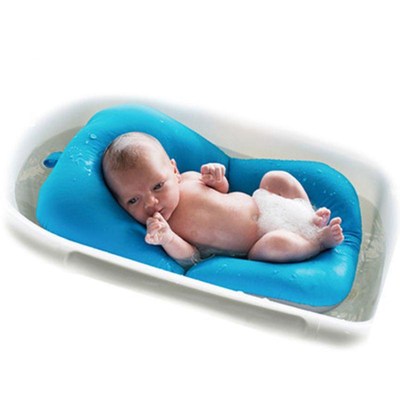 Antideslizante Bebé Bañeras Bañera Cojín de la Estera de Baño del Recién Nacido Baño de Soporte Del Asiento de Seguridad Infantil Bebé Ducha Portátil Cojín de Aire cama P15