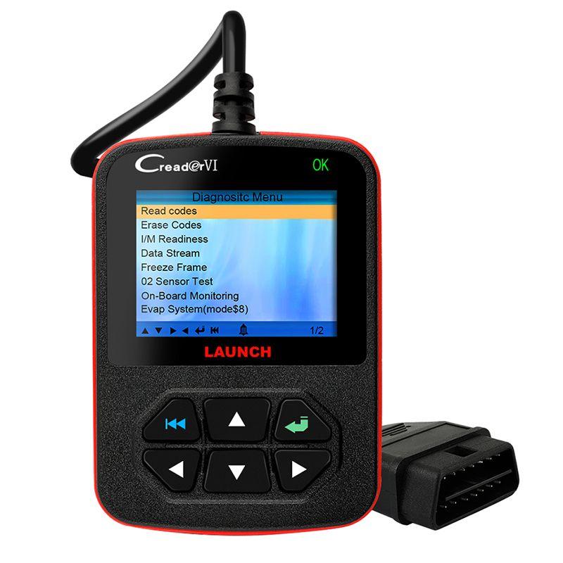 OBD2 Diagnostic Tool Automotive Scanner Launch Scanner Creader VI OBD 2 Diagnostic-Tool Auto Car Diagnostic Tool Multi Language