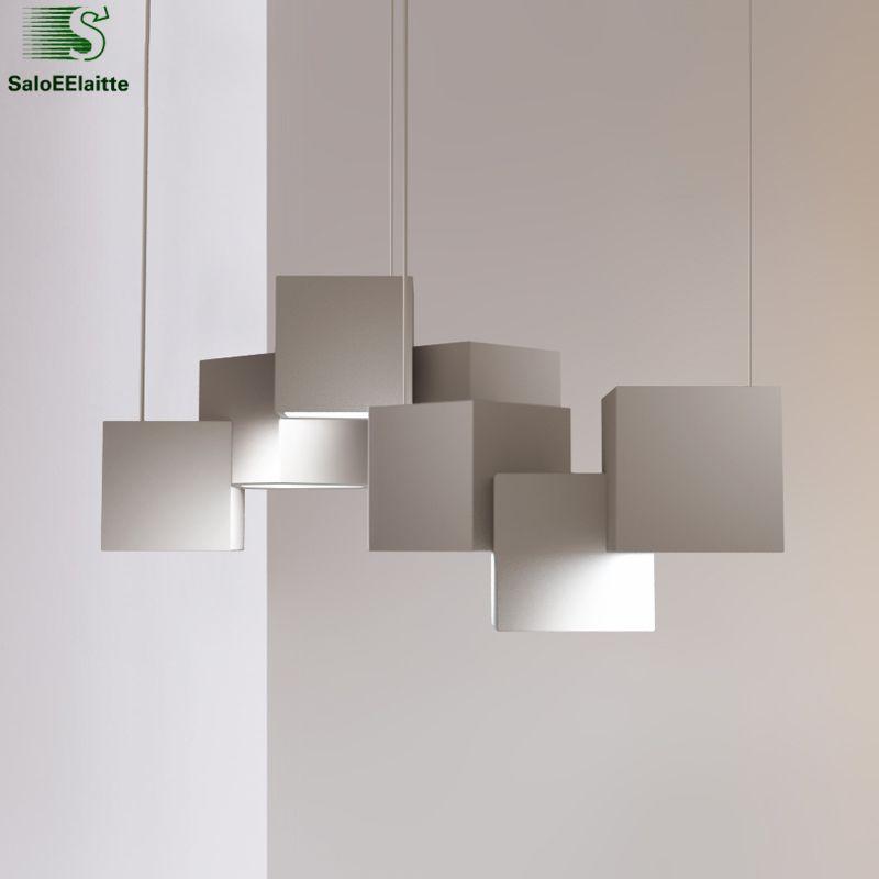 Modern Geometric Lustre Led Chandelier Lustre Metal Luminaire Led Pendant Chandelier for Dining Room Indoor Lighting Fixtures