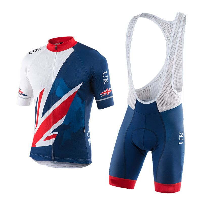 Ropa ciclismo hombre UCI 2018 UK team men's short sleeve cycling jersey kit summer breathable <font><b>bicicleta</b></font> MTB bicycle clothing