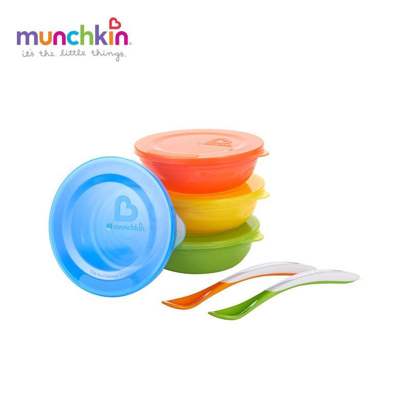 Munchkin bebé Amor-un Conjunto de Tazones de Alimentación Del Bebé Niños niño niña kids comedero conjunto bebé infantiles de vajilla BPA libre