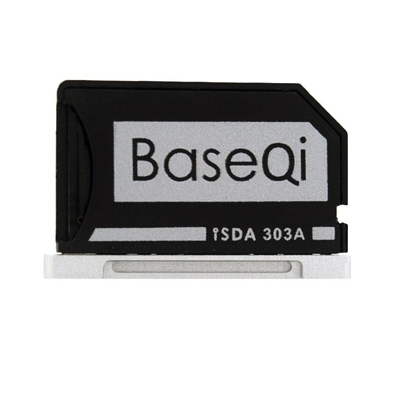 Original BASEQI Aluminum MiniDrive Micro SD Card Reader For Macbook Pro Retina 13'' Model 303A Memory Card Adapter
