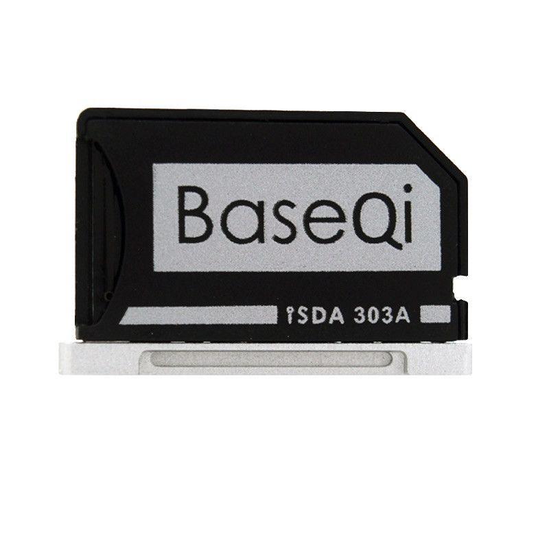 Original BASEQI Aluminum MiniDrive Micro SD Card Reader For Macbook Pro Retina 13'' Model 303A Memory Card Adapter