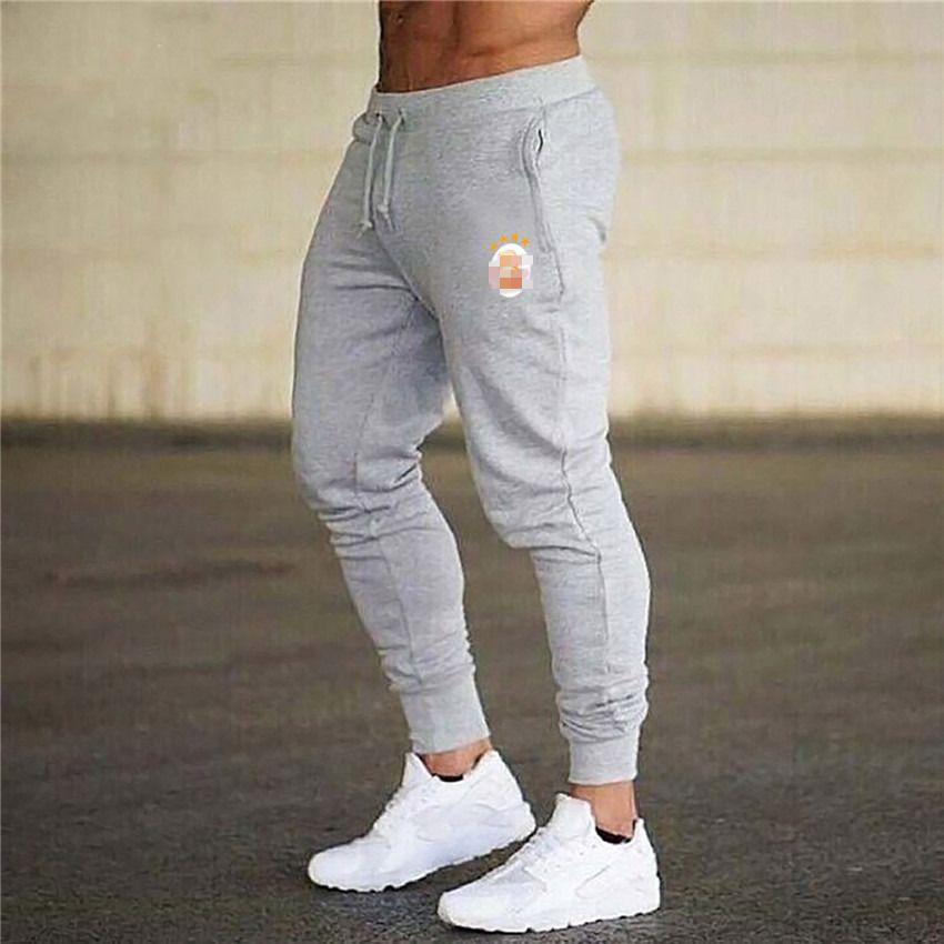 Homme pantalon jogging décontracté Fitness hommes Sportswear survêtement bas Skinny pantalons de survêtement gris Gyms survêtement pantalon de survêtement