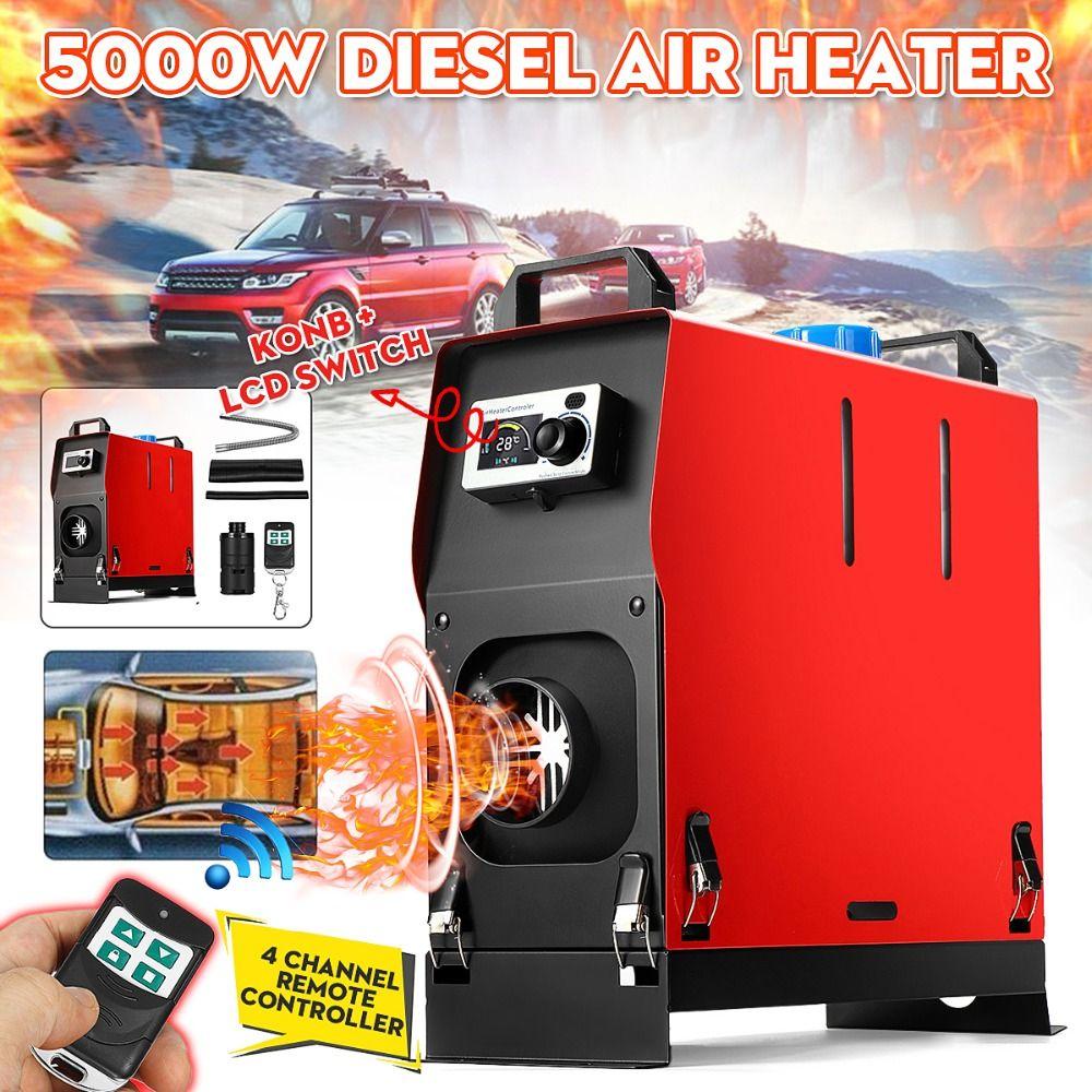 5KW 12 V Integration Einzel Löcher Air Diesels air standheizung LCD Bildschirm Schalter Auto Heizung Mit Fernbedienung Saving raum