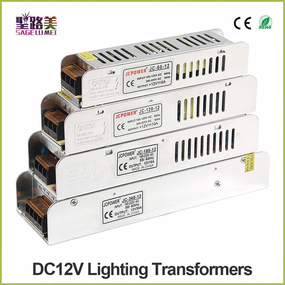 Boîte à lumière LED Alimentation AC 220 V à DC12V 60 W 120 W 180 W 200 W 240 W 360 W 400 W LED Driver Puissance Adaptateur LED Éclairage transformateurs