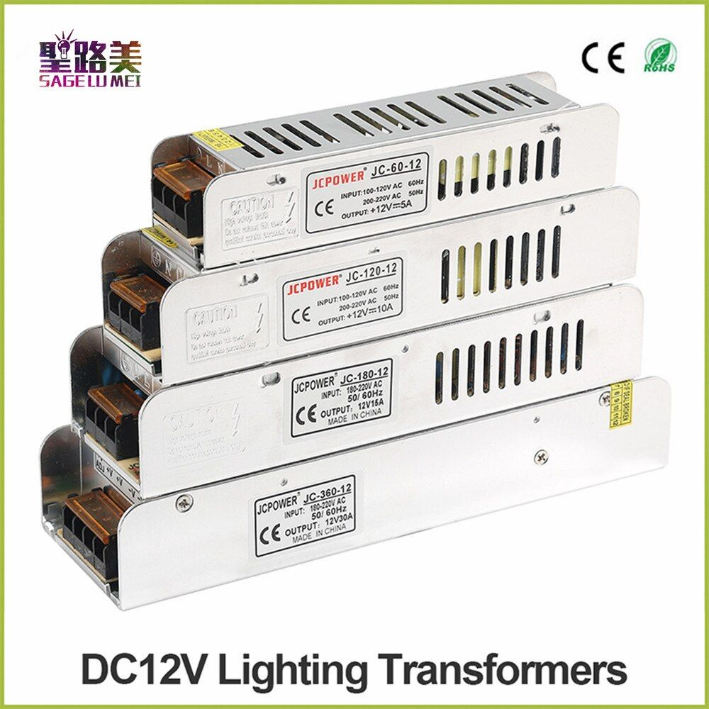 Boîte à lumière alimentation LED alimentation AC 220 V à DC12V 60 W 120 W 180 W 200 W 240 W 360 W 400 W LED adaptateur de puissance de conducteur LED transformateurs d'éclairage