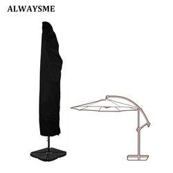 ALWAYSME Outdoor Patio 7-13' Offset Umbrella Cover Waterproof For Outdoor Garden Banana Cantilever Parasol Umbrellas With Zipper