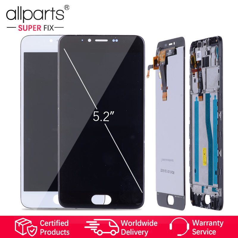 5.2 Original LCD For MEIZU M5 Display Touch Screen Digitizer with Frame M611H Display Module For MEIZU M5 LCD Replacement #2