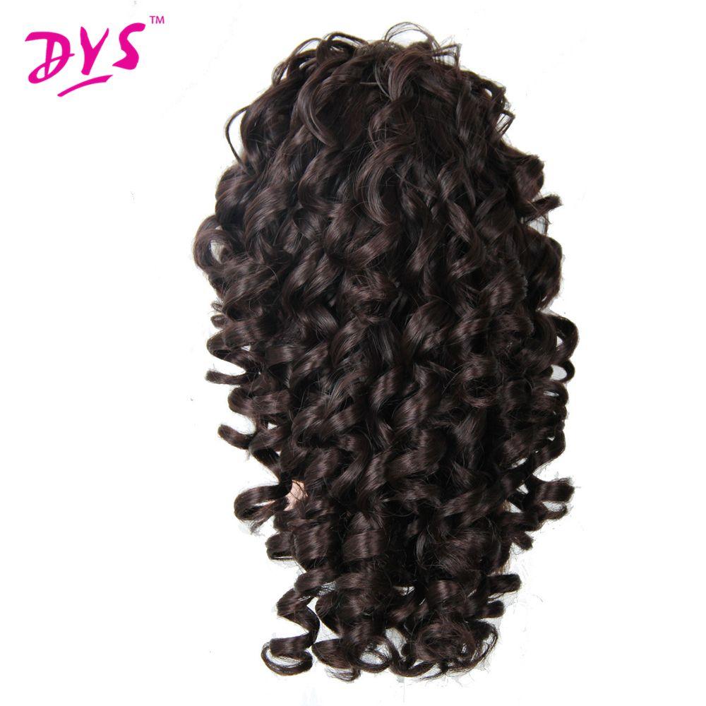Deyngs 20 pouces crépus bouclés griffe en queue de cheval Extensions de cheveux faux cheveux queue de poney pièce de cheveux rouge/noir/brun fort 3 couleurs