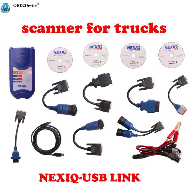 Professional scanner for trucks NEXIQ diagnostic-tool NEXIQ 125032 USB Link Auto Heavy Duty Truck Scanner tool Free shipping
