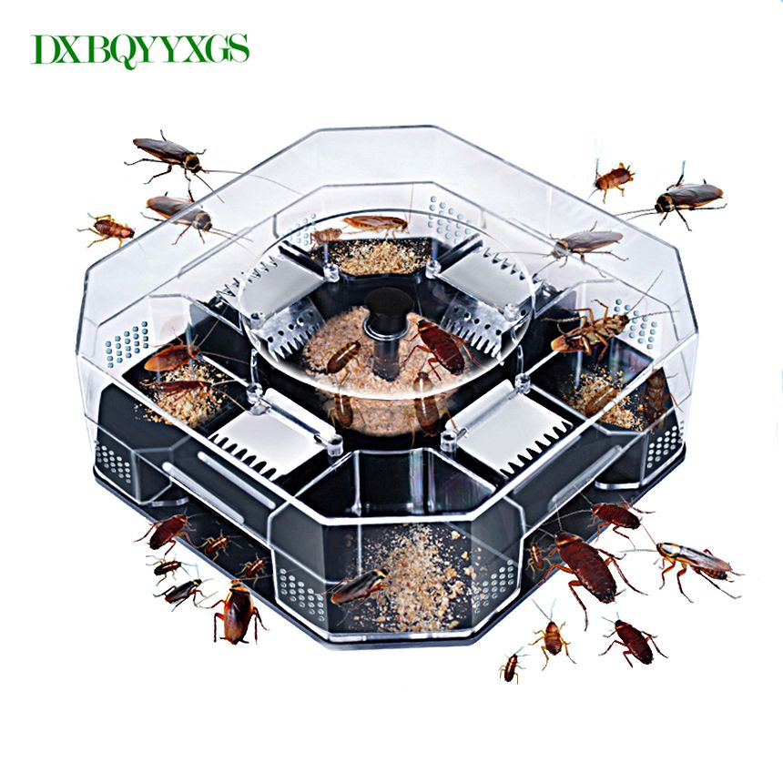 DXBQYYXGS Hot Reusable Cockroach Trap Box Cockroach Catcher Cockroach Killer Bait Trap No Pollution For Home Office Kitchen For