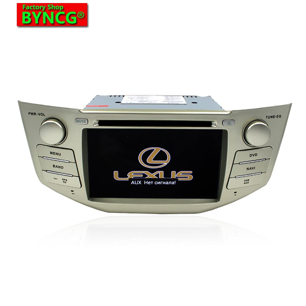 BYNCG RX 2 Din Car DVD Player Android 6.0 GPS Radio for lexus rx300,rx330,7inch 1024*600 ,quad Core 3G WIFI DRR3 1+16G 1.7GHZ