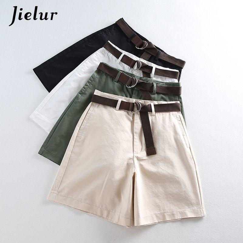 2019 Été Loisirs Mince Shorts pour Femmes Lâche Grande Taille Jambe Large Short avec Taille Haute Femelle A-ligne Court Feminino 4 couleurs
