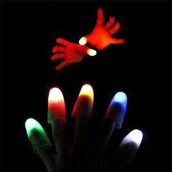 LED-Licht Blinkt Fingers Magic Trick Props Kinder Erstaunliche Fantastische Glow Spielzeug Kinder Luminous Geschenke Dekor