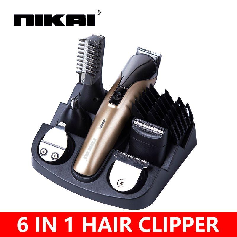 6 in1 волосы резки волосы триммер для стрижки волос в триммер для бороды машины для обрезки Парикмахерская Стрижка машины tondeuse