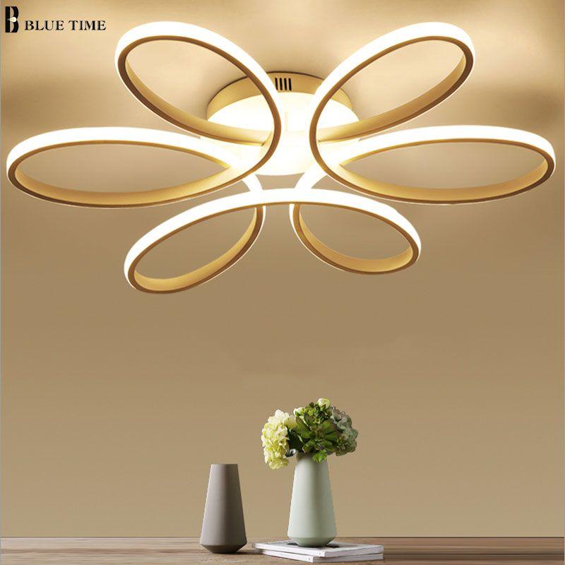 White Modern LED Chandelier For Living room Bedroom Dining room Lustres LED Ceiling Chandelier Lighting Home Fixtures Luminaires