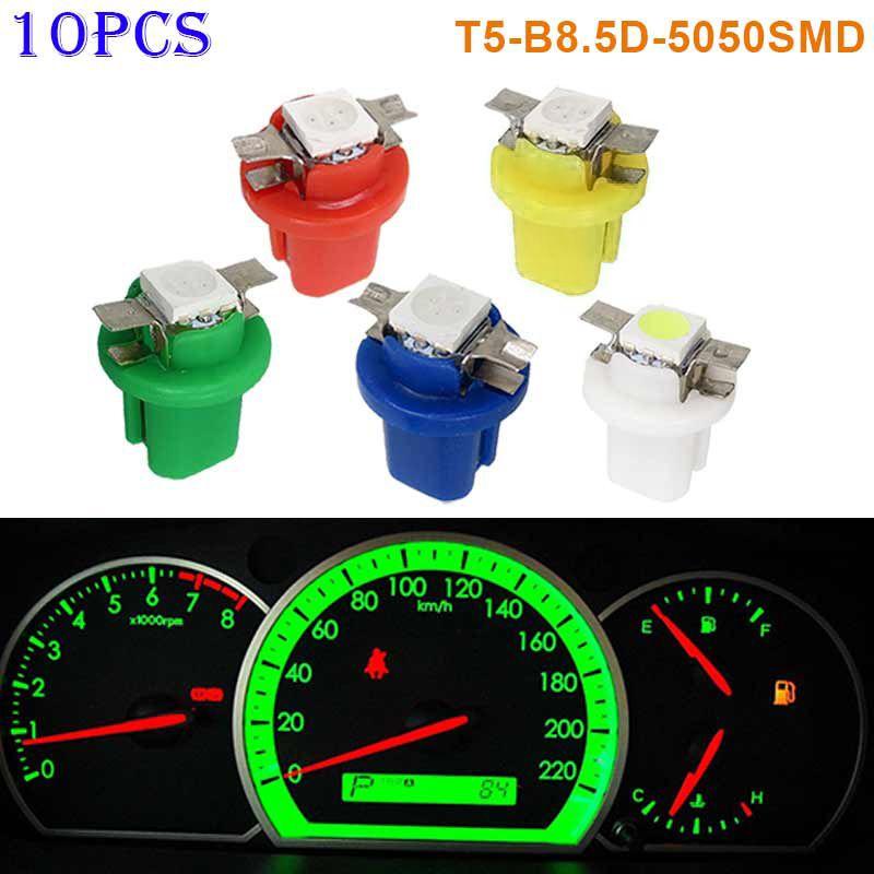10 stücke T5-B8.5D-5050smd LED SMD Lampe Auto Gauge Geschwindigkeit Dash Birne Dashboard Instrument Licht 12 v LB88