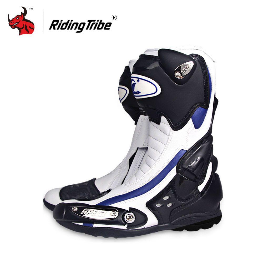 Reiten Tribe Geschwindigkeit Motorrad Stiefel Outdoor Sport Racing Schuhe Stiefel Motocross Off-Road Motorrad Stiefel