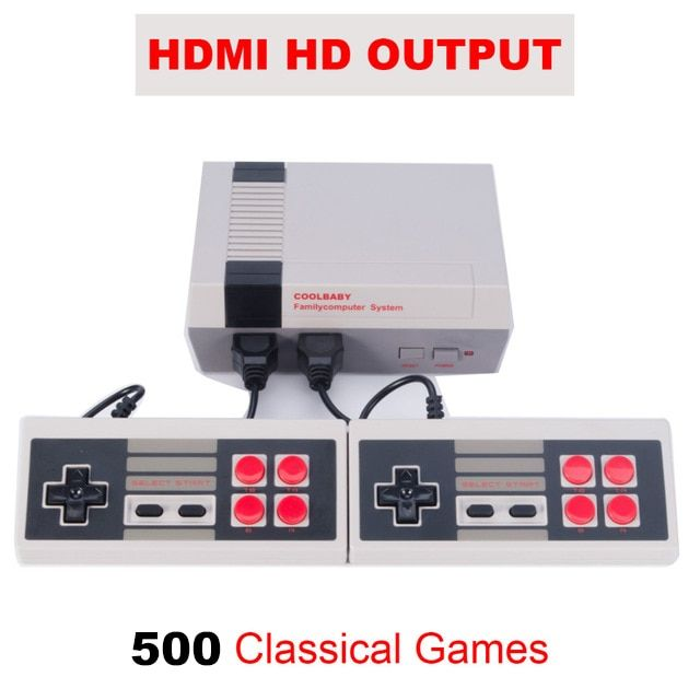 HD HDMI/AV Output Mini TV Handheld Game Console Video Game Console with 500 Different NES games Built-in for 4K TV PAL & NTSC