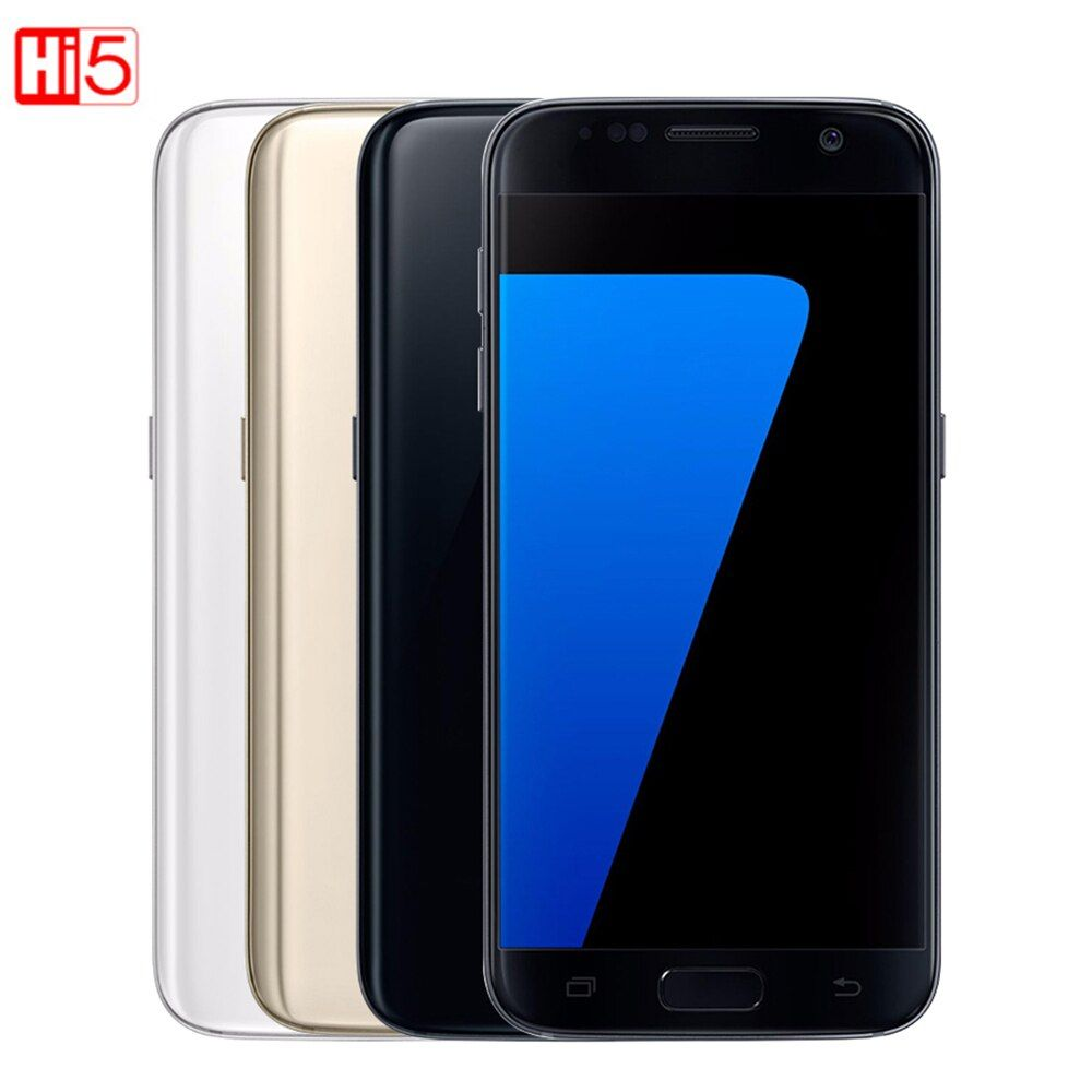 Entsperrt Samsung Galaxy S7 rand G935F/G935V handy 4 gb RAM 32g ROM Quad Core NFC WIFI GPS 5,5 ''12MP LTE fingerprint