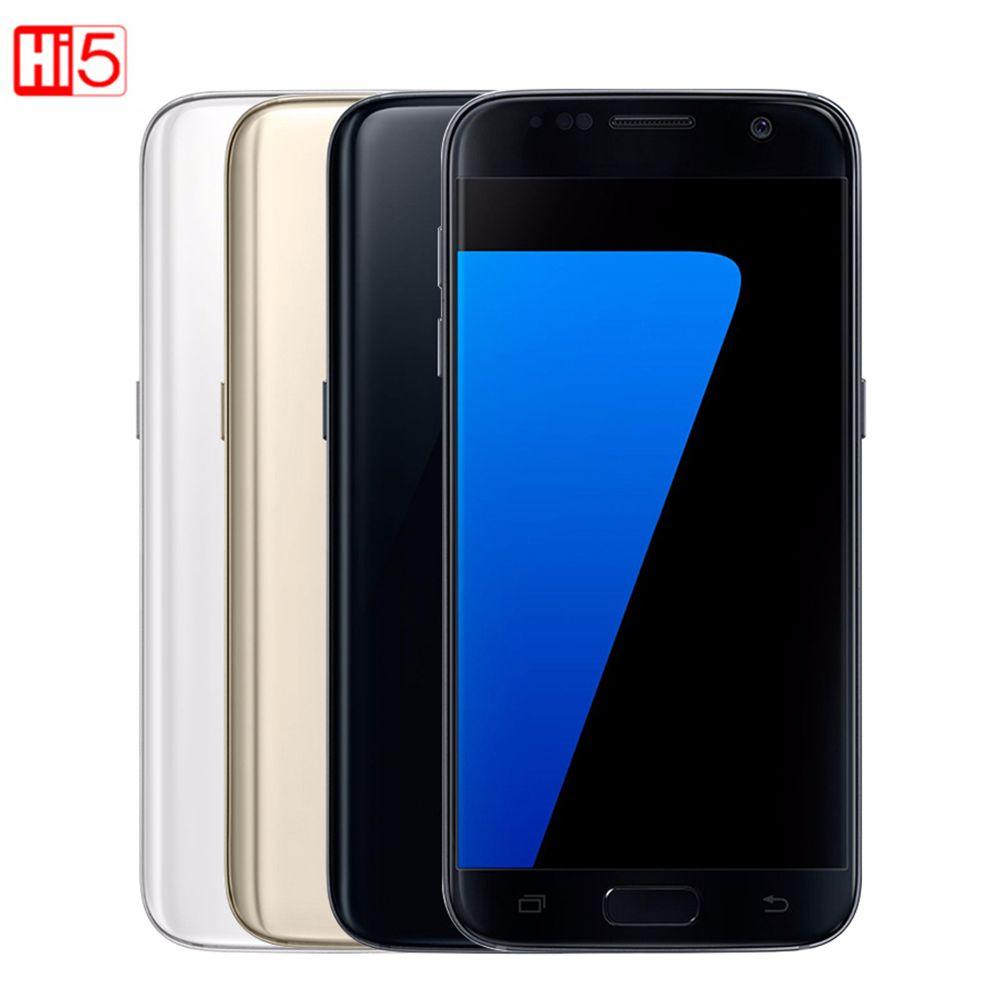 Unlocked Samsung Galaxy S7 edge G935F/G935V mobile phone 4GB RAM 32G ROM Quad Core NFC WIFI GPS 5.5'' 12MP LTE fingerprint