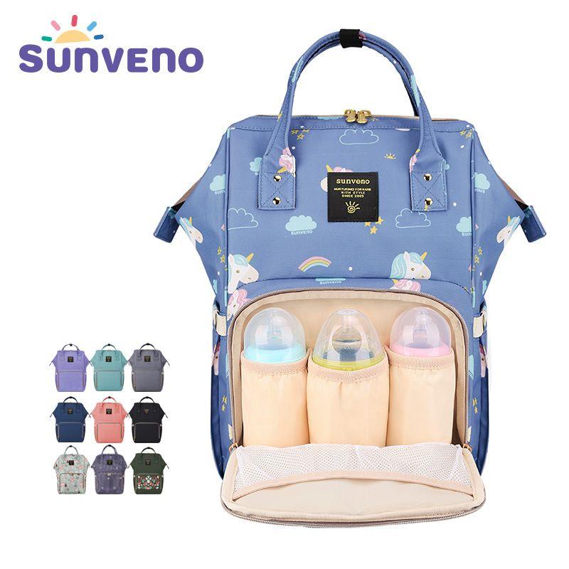 SUNVENO Fashion Mummy Maternity Diaper Bag Large Nursing Bag Travel Backpack Designer Stroller Baby Bag Baby <font><b>Care</b></font> Nappy Backpack