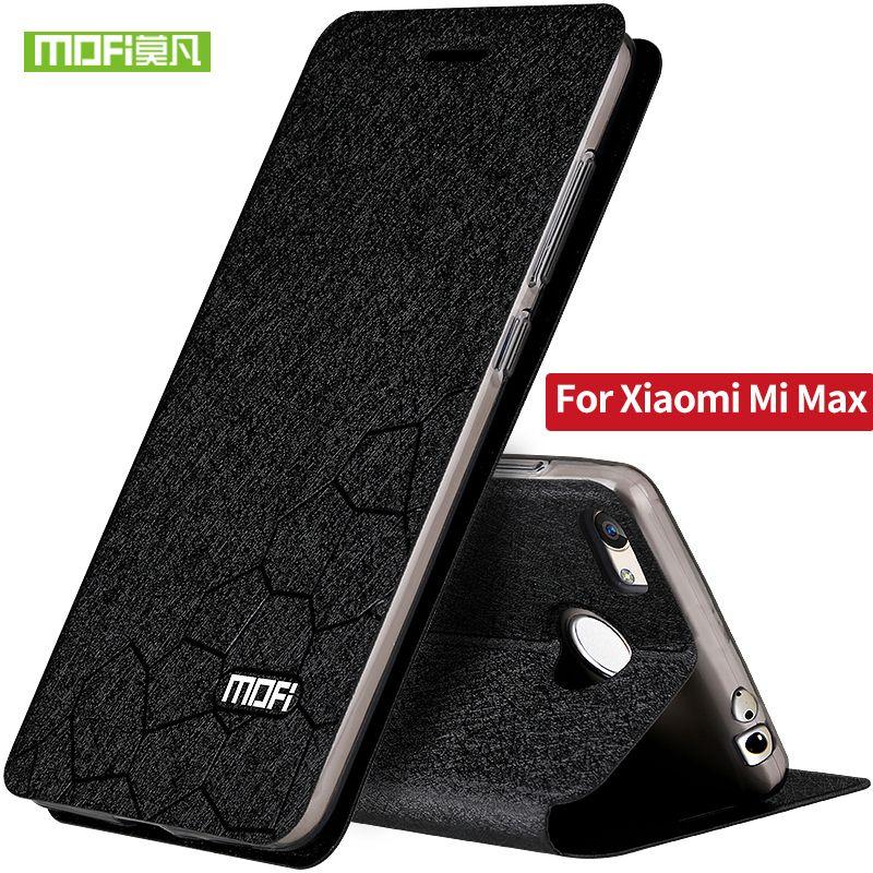 Pour xiaomi mi max étui en Silicone dos MOFi Original pour xiaomi max étui Flip en cuir Ultra mince couverture TPU 6.44 pouces