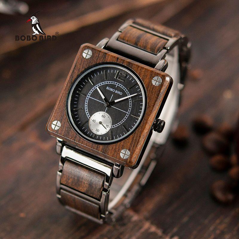Relogio masculino BOBO VOGEL Männer Uhr erkek kol saati Luxus Holz Uhren Wasserdichte Große Geschenk für Freund Akzeptieren Logo