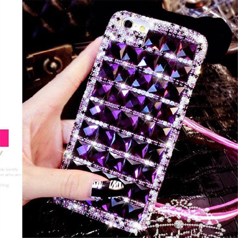 Pour Samsung Galaxy A3 A5 A7 2016 A8 A9 2015 2016 2017 Premier De Luxe Glitter Bling Diamant Strass Doux Cas de Téléphone Retour couverture