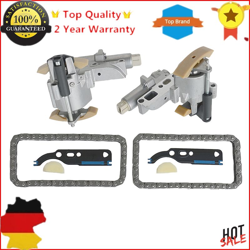 077109088P 058109229 For Audi A6 A8 RS6 S6 S8/VW Phaeton Touareg V8 4.2L Engine Left & Right Timing Chain Tensioners Kit 4.2L