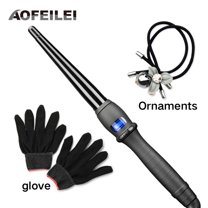 <font><b>Ceramic</b></font> Styling Tools professional Hair Curling Iron Hair waver Pear Flower Cone Electric Hair Curler Roller Curling Wand