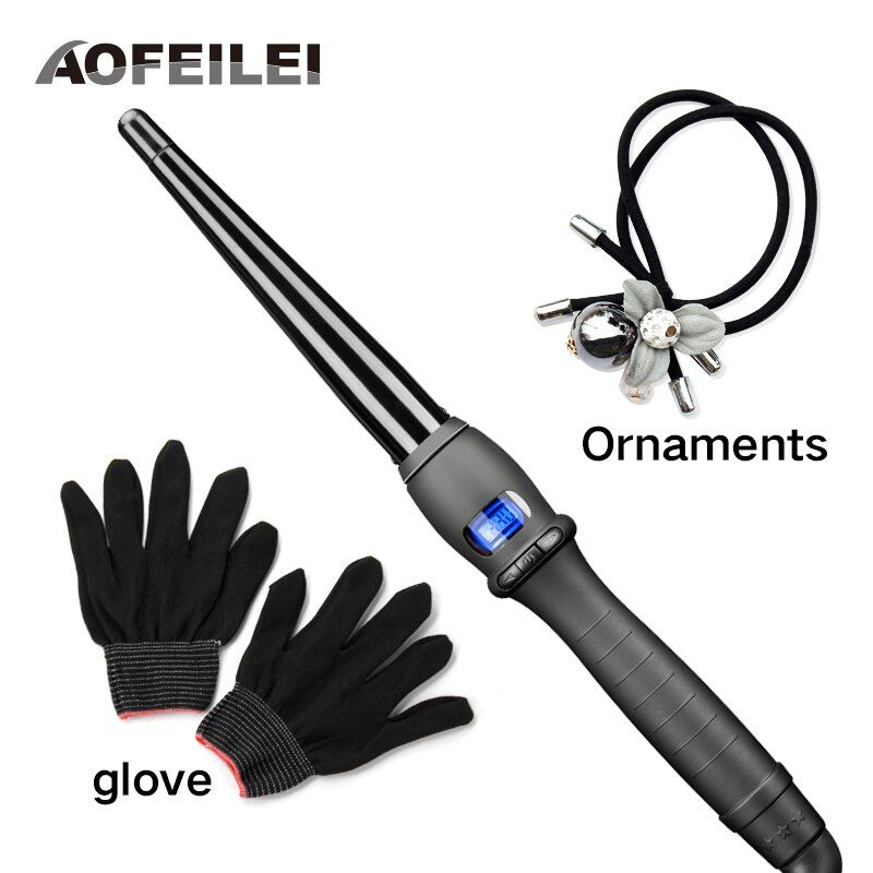 Ceramic Styling Tools <font><b>professional</b></font> Hair Curling Iron Hair waver Pear Flower Cone Electric Hair Curler Roller Curling Wand