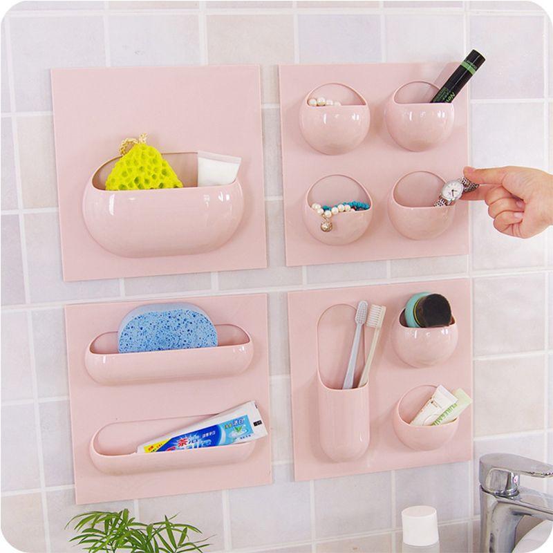Creative Seamless Plastic Powerful Wall Universal Hook Bathroom Wall Bathroom Organizer Kitchen Multifunctional Storage Hook.