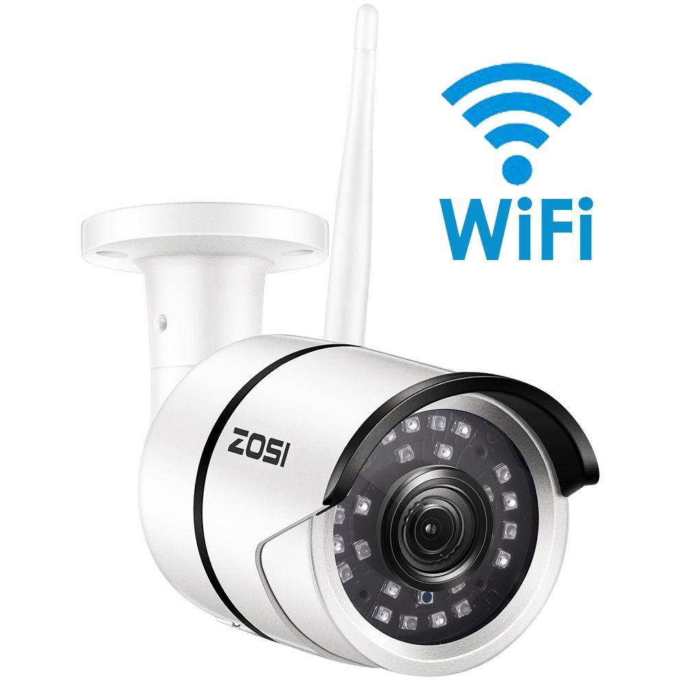 Caméra IP Wifi ZOSI 1080 P Onvif 2.0MP HD caméra de Surveillance vidéo infrarouge extérieure étanche à la Vision nocturne